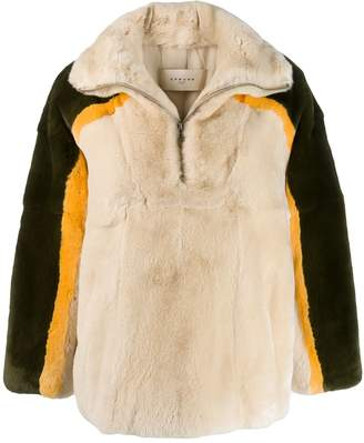 Sprung Frères Manitoba fur-trim sweater