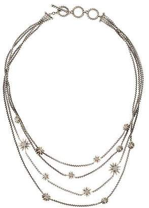 David Yurman Diamond Starburst Multistrand Necklace