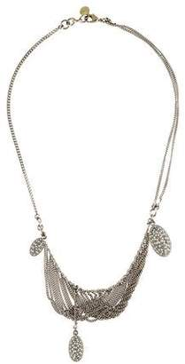 Chloé Crystal & Curb Chain Fringe Collar Necklace