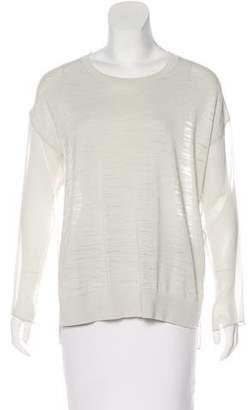 AllSaints Sheer Long Sleeve Top