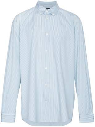 Balenciaga Logo print striped cotton shirt