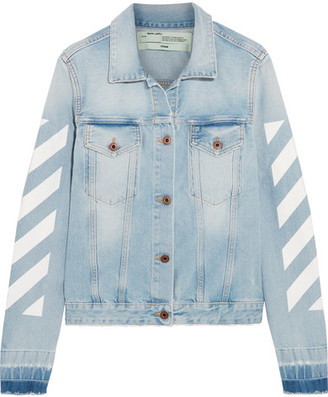 Off-White - Printed Denim Jacket - Light denim $630 thestylecure.com