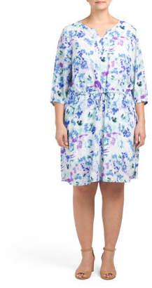 Plus Alexa Ikat Printed Dress