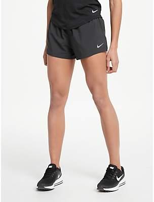 Nike Elevate 3 Running Shorts, Black/Gunsmoke