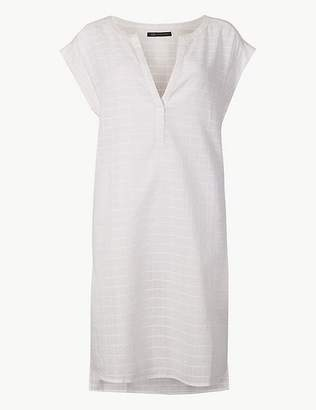 Marks and Spencer Pure Cotton Short Sleeve Shift Beach Dress