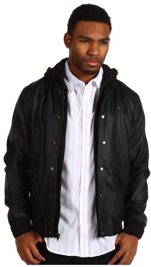 Obey Varsity Legend Jacket (Black) - Apparel