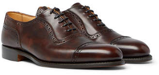 Tricker's Trenton Cap-Toe Burnished-Leather Oxford Brogues