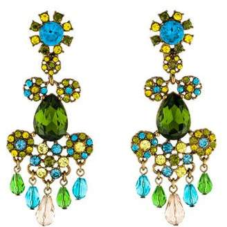 Oscar de la Renta Crystal Chandelier Earrings