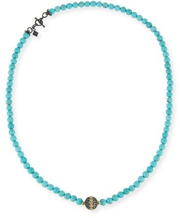 Armenta Armenta Old World Midnight Beaded Magnesite Necklace