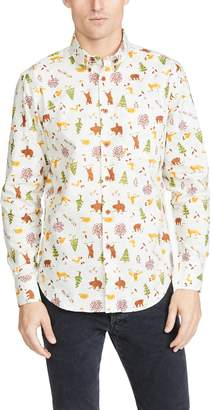 Naked & Famous Denim Easy Shirt In Creature Print