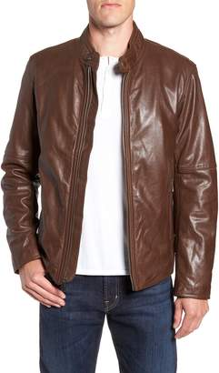 Andrew Marc Emerson Lightweight Leather Moto Jacket