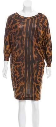Alexander McQueen Silk Dolman Dress