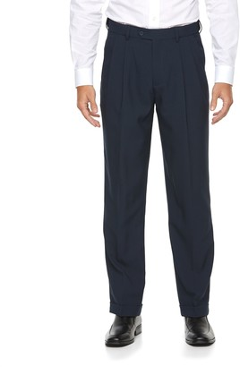 Croft & Barrow Big & Tall Classic-Fit Easy-Care Pleated Dress Pants