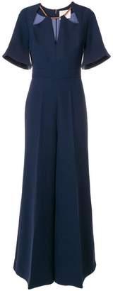 Roksanda embellished neckline wide leg jumpsuit