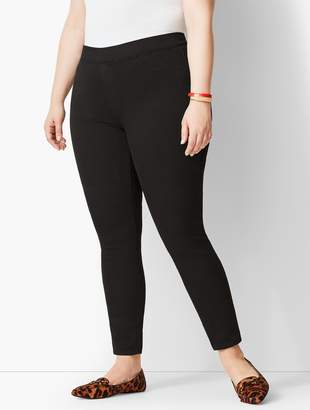 Talbots Plus Size Exclusive Comfort Stretch Pull-On Denim Jeggings - Black