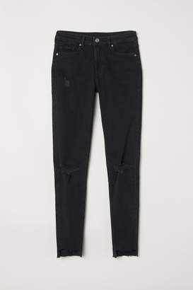 H&M Skinny Regular Ankle Jeans - Gray