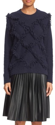 Rebecca Taylor Fringe Pullover Sweater $395 thestylecure.com