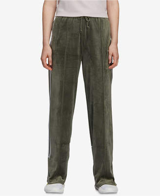 adidas Velvet Three-Stripe Track Pants