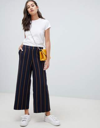 Only stripe wide leg PANTS