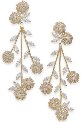 Kate Spade Crystal Flower Statement Earrings