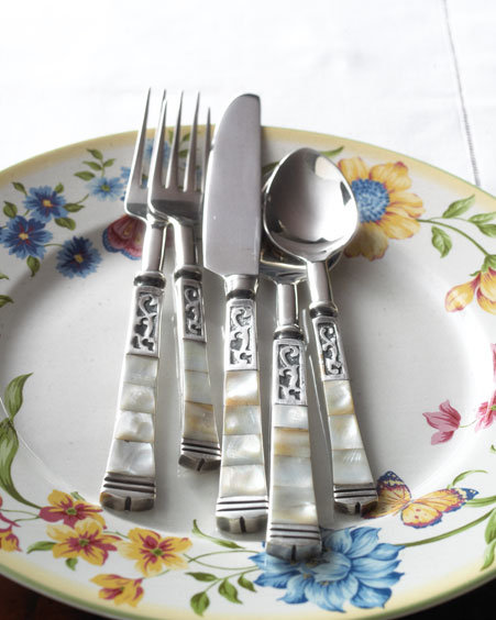 Five-Piece Mother-of-Pearl Flatware Set