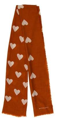 Burberry Heart Patterned Scarf