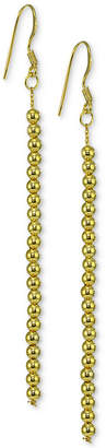 Giani Bernini Beaded Linear Drop Earrings in 18k Gold-Plated Sterling Silver, Created for Macy's