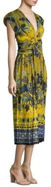 Fuzzi Batik Floral Print Midi Dress $695 thestylecure.com