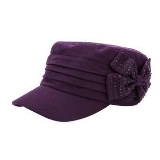 10e7fc49138 Q Y YQ Women s Winter Wool Military Hats Cadet Caps Size L