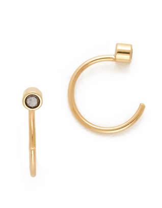 Chicco Zoe Diamond Reversible Open Hoop Earrings