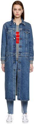 Long Cotton Denim Coat $226 thestylecure.com