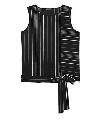 Vince Camuto Mixed-striped Sleeveless Top