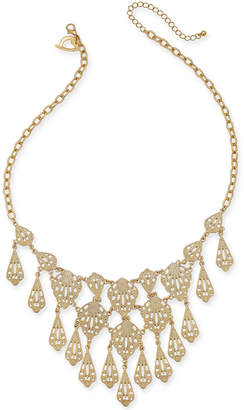 "Thalia Sodi Gold-Tone Filigree 18"" Statement Necklace, 18"" + 3"" extender"