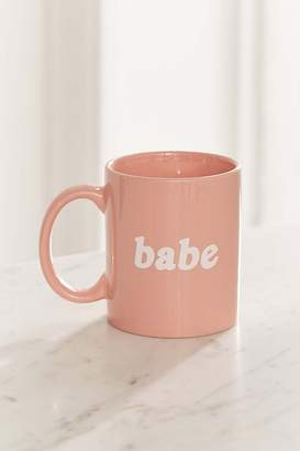 Urban Outfitters Babe Mug – Light Pink
