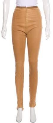 Maison Margiela Converse x Leather Skinny Pants