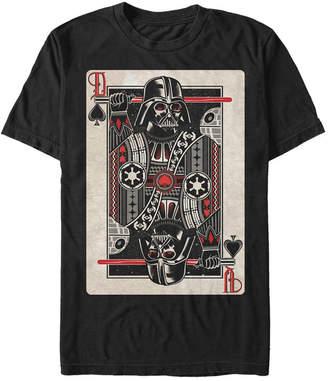 Star Wars Men Classic Darth Vader of Spades Playing Card Short Sleeve T-Shirt