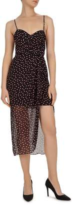 The Kooples Polka Dot Silk Midi Dress