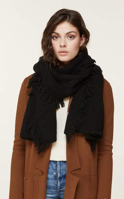 Soia & Kyo CANDIDE cozy knit scarf with fringe