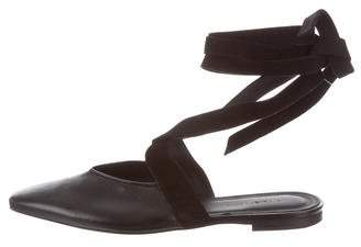 J.W.Anderson Leather Squared-Toe Ballet Flats