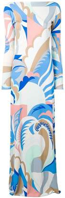 Emilio Pucci abstract print long dress
