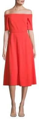 Tibi Crepe Off-The-Shoulder Midi Dress