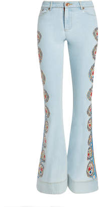 Alice + Olivia BEAUTIFUL HIGH WAIST BELL JEAN