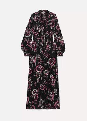 McQ Floral-print Crepe Maxi Dress