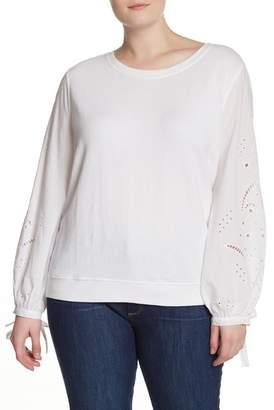 Susina Eyelett Terry Sweatshirt (Plus Size)