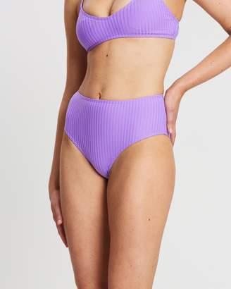Cotton On Paige Rib High-Waisted Full Bikini Bottoms