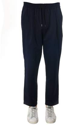 McQ Ink Linen-cotton Blend Trousers