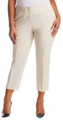 Lafayette 148 New York Lafayette 148 New York, Plus Size Fundamental Bi-Stretch Cropped Pants