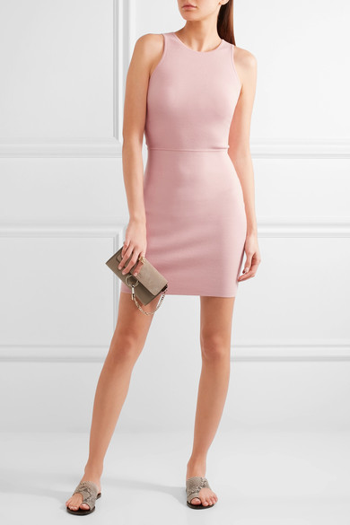 Elizabeth and James - Ritter Stretch-ponte Mini Dress - Pink 3