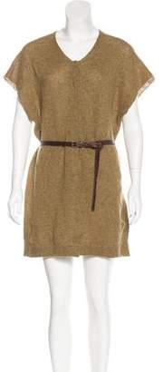 Dries Van Noten Belted Wool Dress