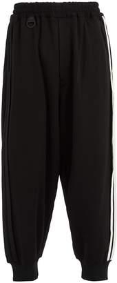 Y-3 Side-stripe cotton-blend track pants